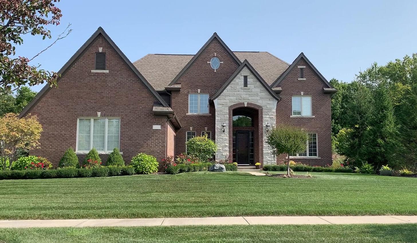 residential brick house