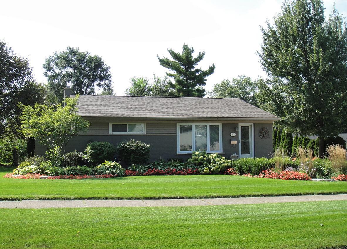 simple house frontyard